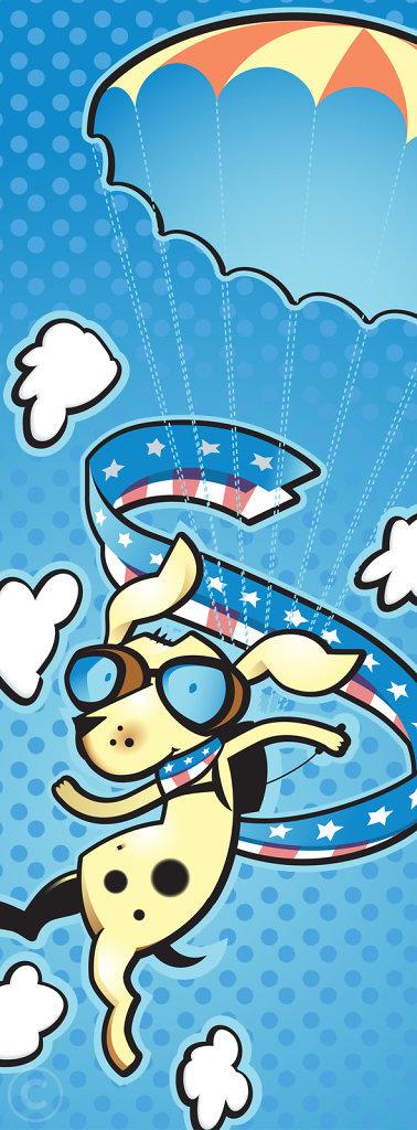Parachuting Puppy